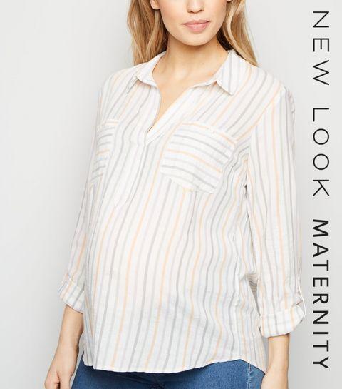 d8ef51dd63b8 Maternity Multicoloured Stripe Overhead Shirt · Maternity Multicoloured  Stripe Overhead Shirt ...