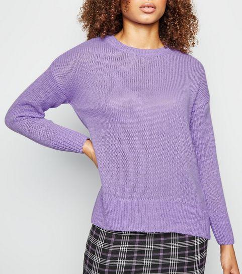 92b1575f6d8 Lilac Knitted Jumper · Lilac Knitted Jumper ...