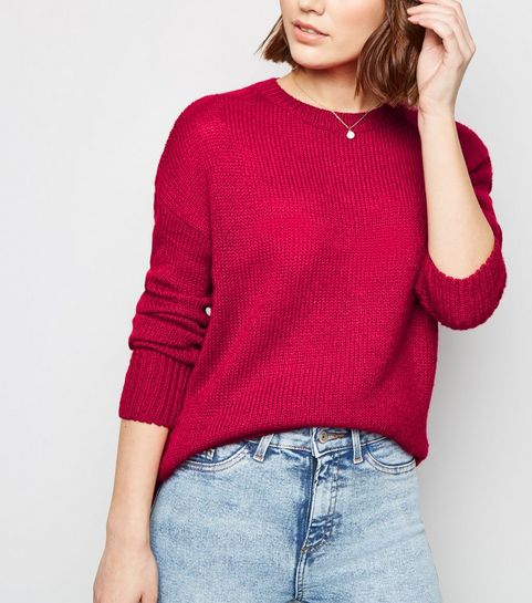 Deep Pink Knitted Jumper · Deep Pink Knitted Jumper ... 36d689b8c