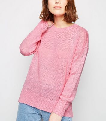 Bright Pink Knitted Jumper