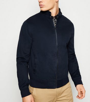 Marineblaue Harringtonjacke