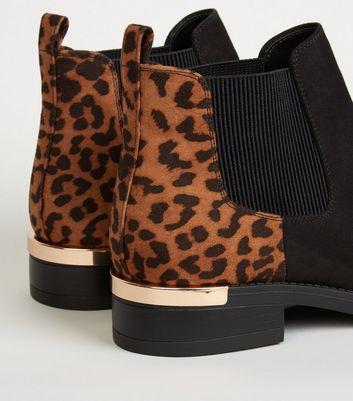 black leopard print boots