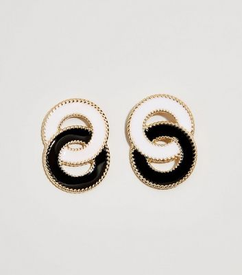 Black Liked Resin Earrings