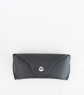 Black Textured Hard Sunglasses Case