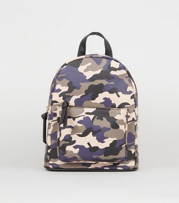 Pink Camo Print Backpack