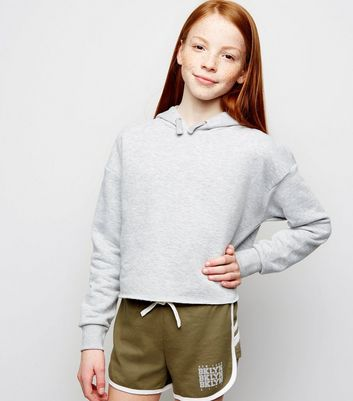 Girls Khaki Brooklyn Jersey Shorts