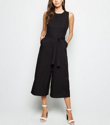 Mela Black Check Culotte Jumpsuit