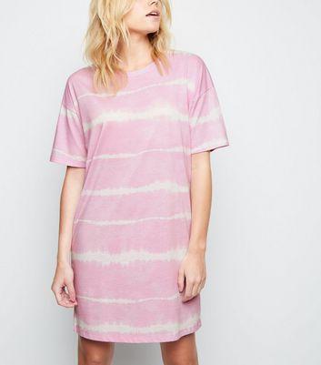 Pink Tie Dye Jersey T-Shirt Dress