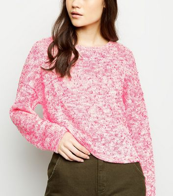 Pink Neon Nep Knit Boxy Top
