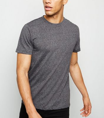Grey Marl Crew Neck Cotton T-Shirt