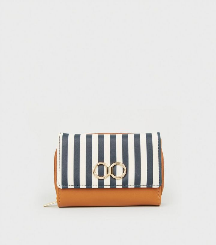 2c982d0c986 Blue Stripe Ring Front Small Purse New Look