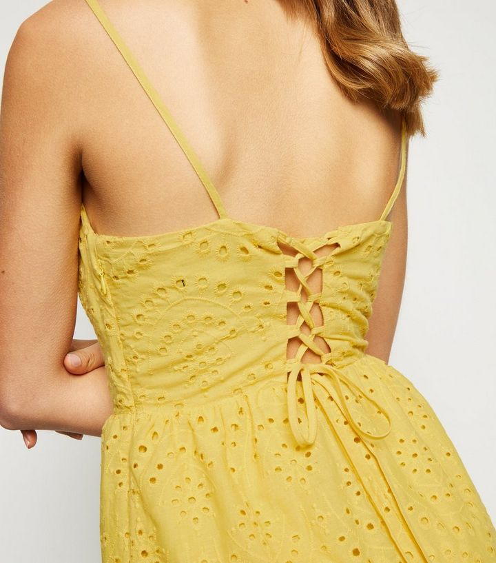 4f483659dc ... Yellow Broderie Strappy Midi Dress. ×. ×. ×. Shop the look