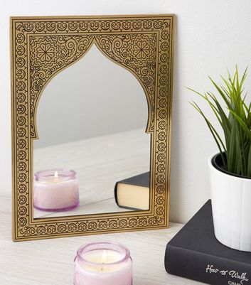 Gold Etched Mirror