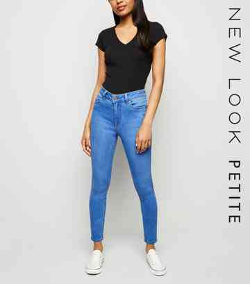 Petite Bright Blue Super Soft Skinny Jeans
