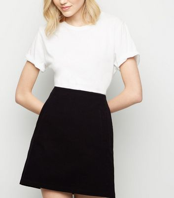 Black Corduroy High Waist Mini Skirt by New Look