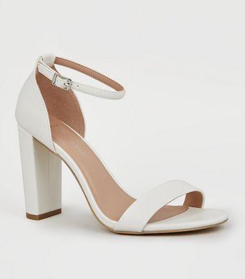 look wide fit block heel sandals