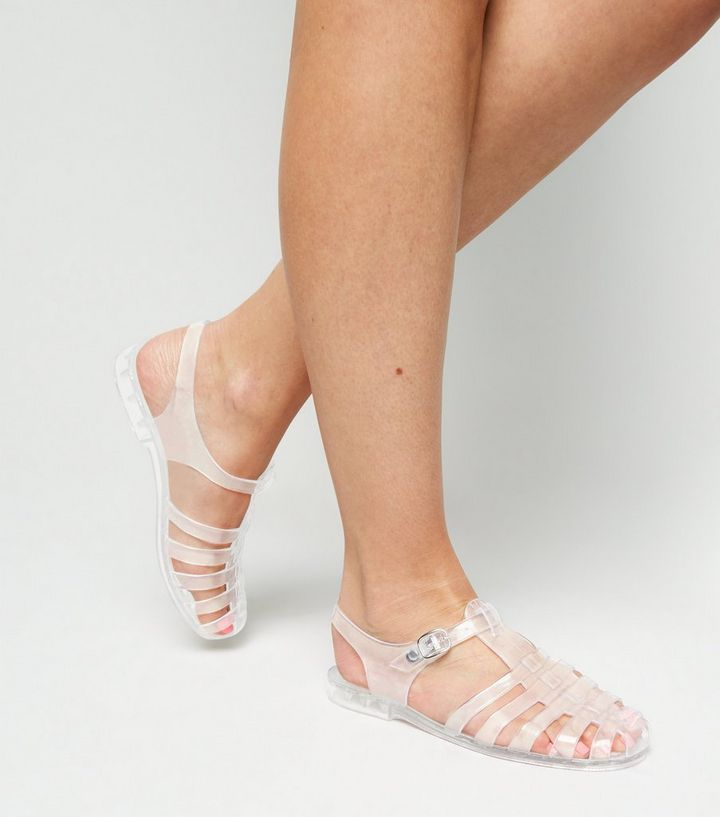 777d63e0287 Clear T-Bar Caged Jelly Sandals Add to Saved Items Remove from Saved Items