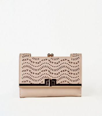 Nude Laser Cut Purse
