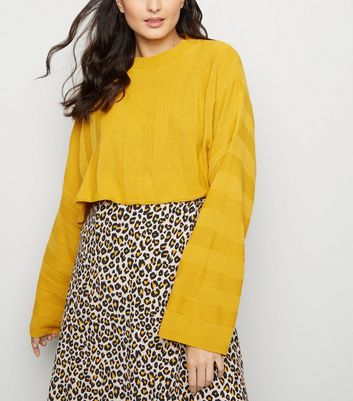 Cameo Rose Mustard Stripe Cropped Jumper