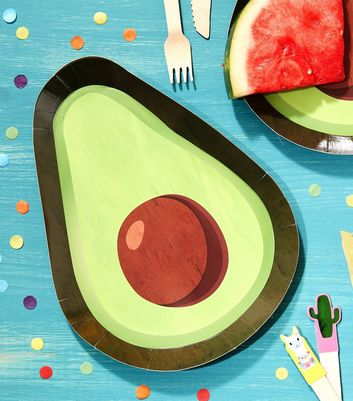 Ginger Ray Green Avocado Paper Plates