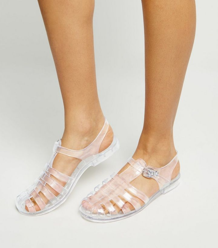 2ced7e0d39a Girls Clear Caged T-Bar Jelly Sandals Add to Saved Items Remove from Saved  Items