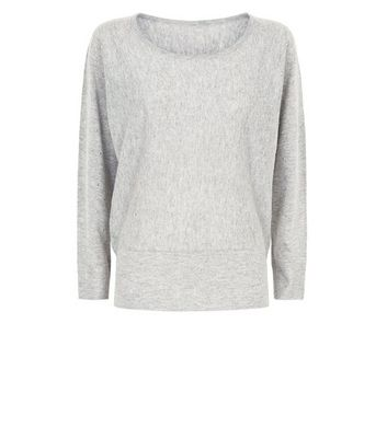 shop for Apricot Grey Marl Studded Batwing Jumper New Look at Shopo