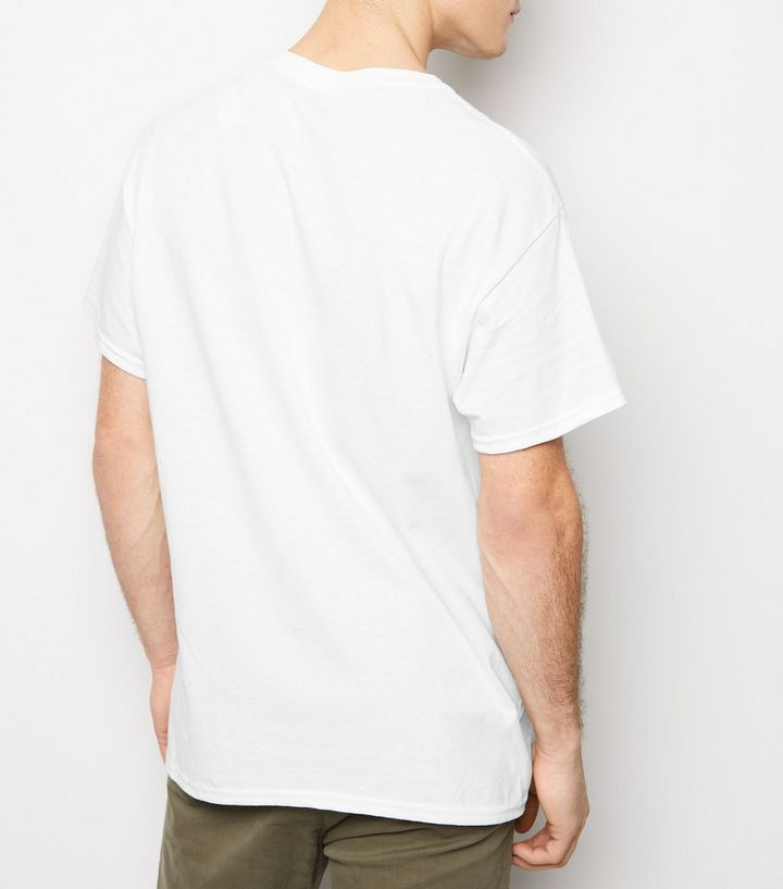 845956c2574249 White Goofy Embroidered Disney Oversized T-Shirt