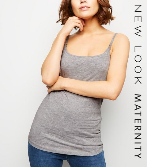 812add0bd4ee3 Maternity Grey Nursing Vest · Maternity Grey Nursing Vest ...
