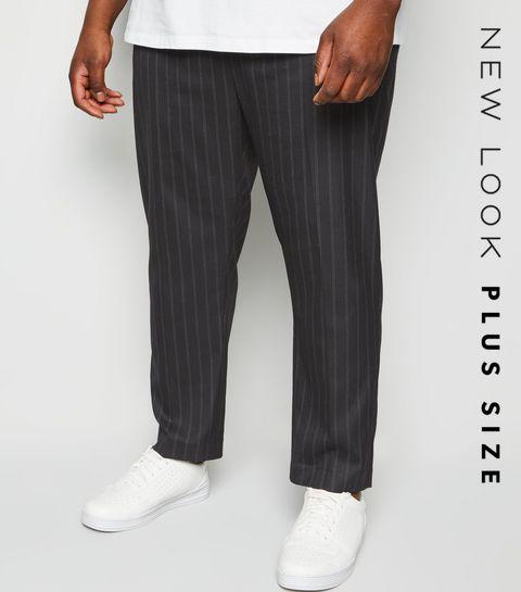 04197a49caae8 Plus Size Black Pinstripe Trousers