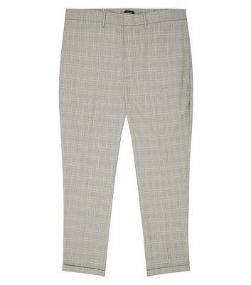 New Look Plus Size  Grid Check Print Trousers
