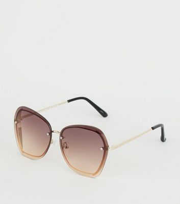 Dark Brown Oversized Sunglasses