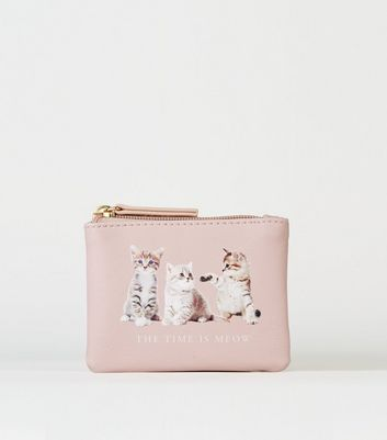 Nude Meow Cat Slogan Coin Purse