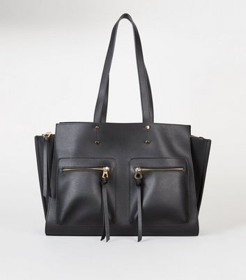 Black Laptop Shopper Bag