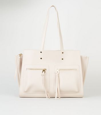 Cream Laptop Shopper Bag