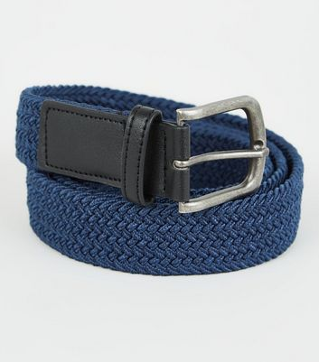 Bright Blue Woven Belt