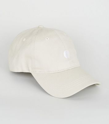 Stone Embroidered Circle 6 Panel Cap