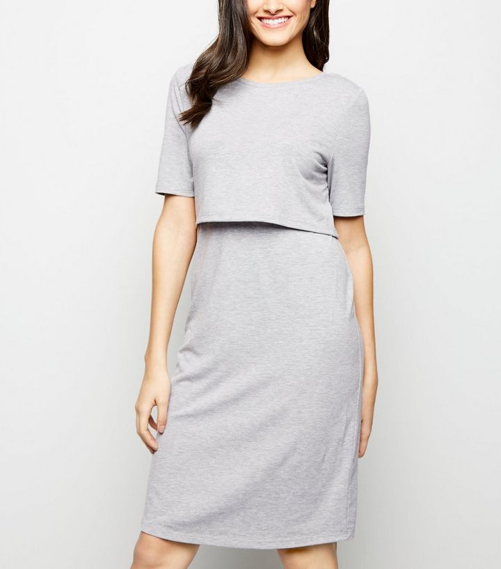 11b7e360dd8 ... Maternity Grey Nursing Midi Dress. ×. ×. ×. Shop the look