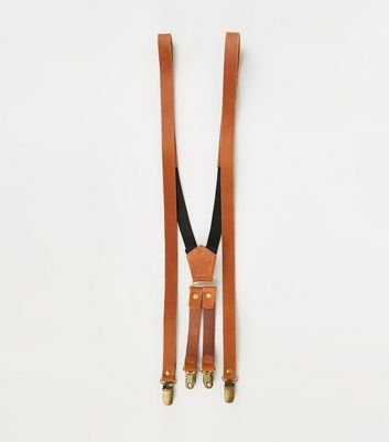 Tan Leather Braces