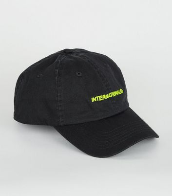 Black Neon International Embroidered Cap