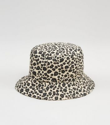 Brown Leopard Print Bucket Hat