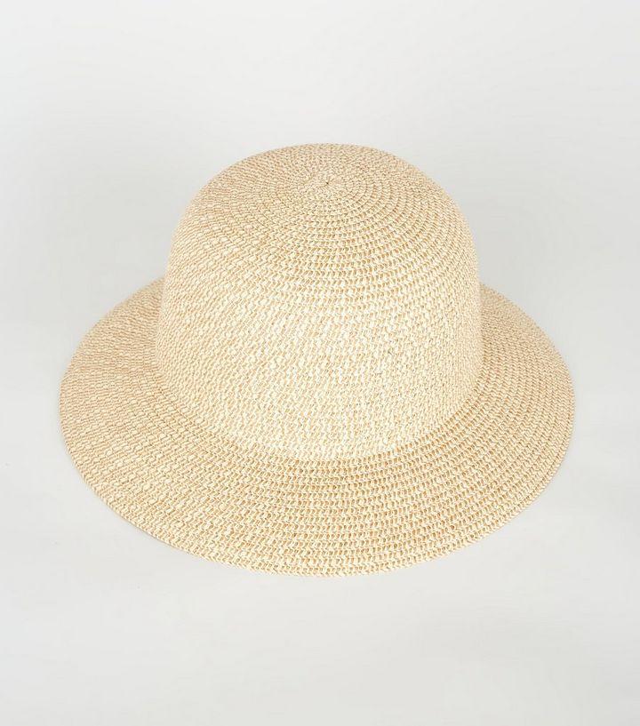 c53ee3ee6534f Stone Woven Straw Effect Bucket Hat