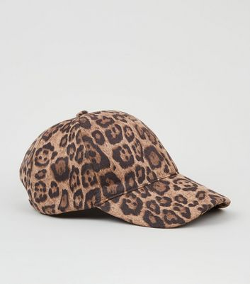 Brown Leopard Print Cap