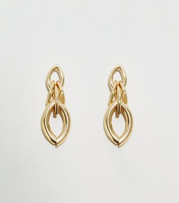 Gold Chunky Chain Linked Earrings