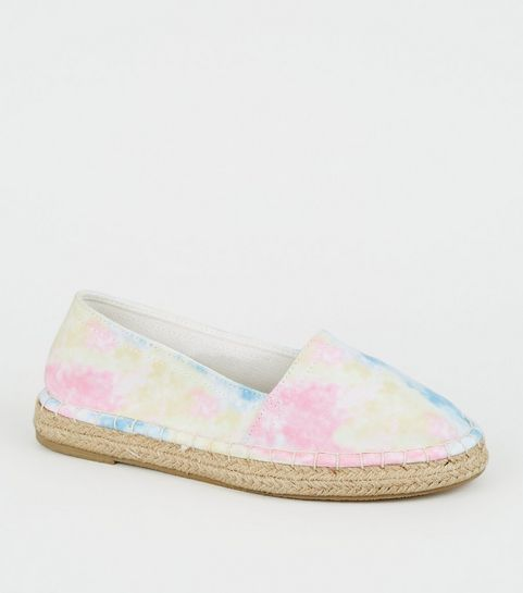 d11c81926 ... Girls Multicoloured Tie-Dye Espadrille Sandals ...