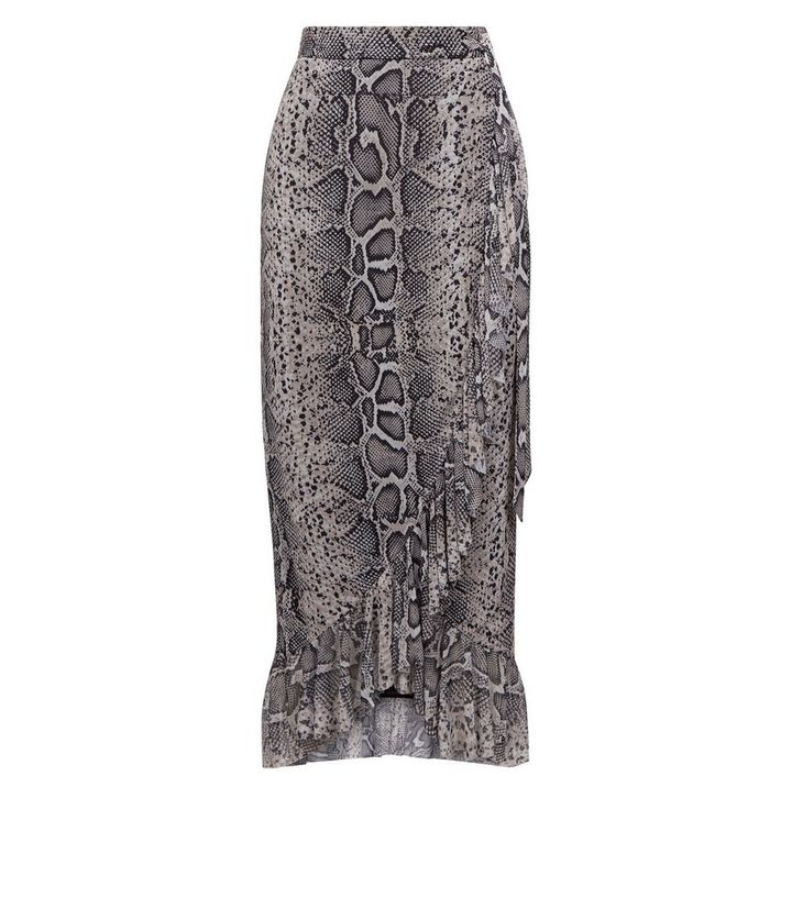 dbc113877 ... Black Snake Print Mesh Midi Skirt. ×. ×. ×. Shop the look