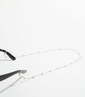 Silver Beaded Glasses Chain