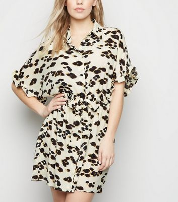 AX Paris Off White Animal Print Shirt Dress