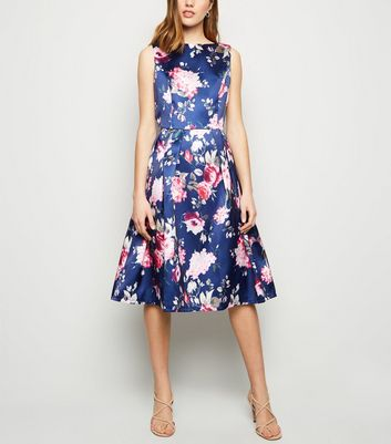 Mela Multicoloured Floral Skater Dress