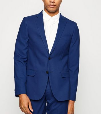 Bright Blue Skinny Suit Jacket