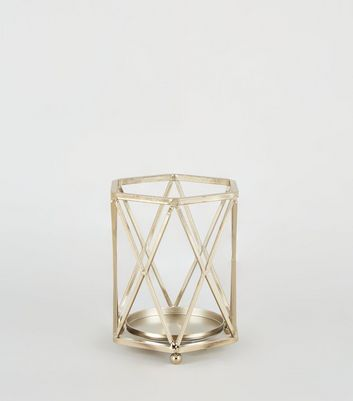 Gold Diamond Wire Lantern